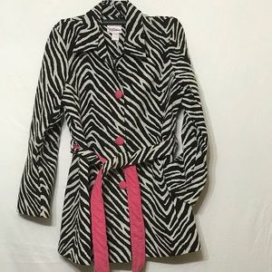 3 Sisters XL Black/White Zebra Print Jacket